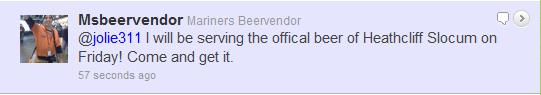 Twitter Beer Vendor Tweet