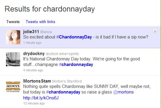 Twitter Chardonnay Day
