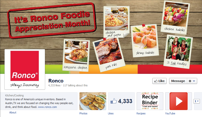 "$50 off promotion/coupon code for the wildly popular Ronco 5500 Rotisserie Oven for people who ""like"" them on Facebook during the month of August"