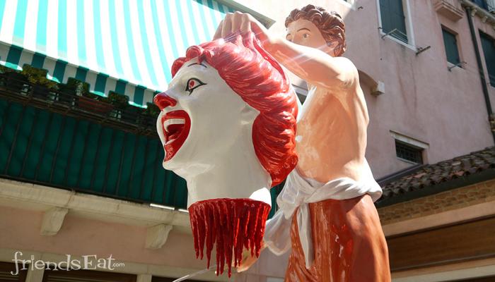 Ronald McDonald Decapitated