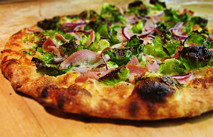 Brussels Sprout and Pancetta Pizza - Chef Ann Rudorf
