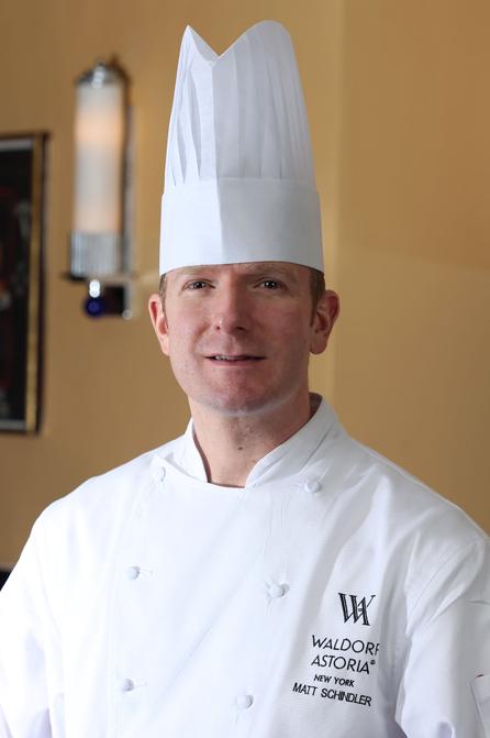 Chef de Cuisine Matt Schindler Waldorf Astoria ny