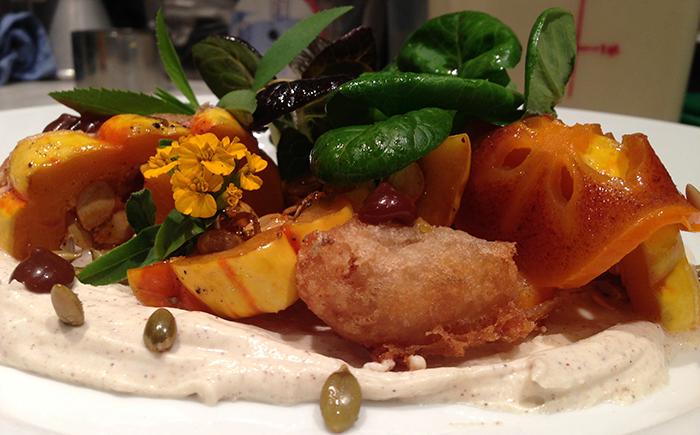 Squash-and-persimon-salad