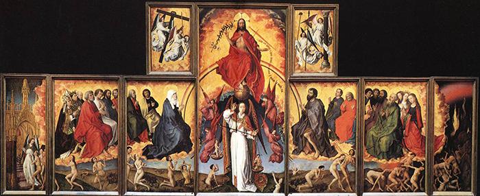 The-Last-Judgement---Rogier-van-der-Weyden-and-Michaelangelo