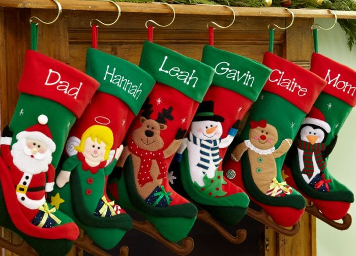Christmas in the USA means hanging of stockings for Santa Claus