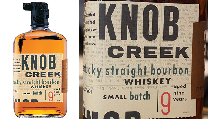 On our top 10 most popular bourbon brands is knob creek whiskey