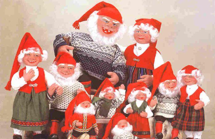 Norway displays Nisse or elf-like figures on Christmas
