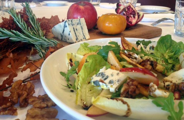 Saint-Agur-Salad-with-Honey-Rosemary-Vinaigrette-from-Left-Bank-Larkspur