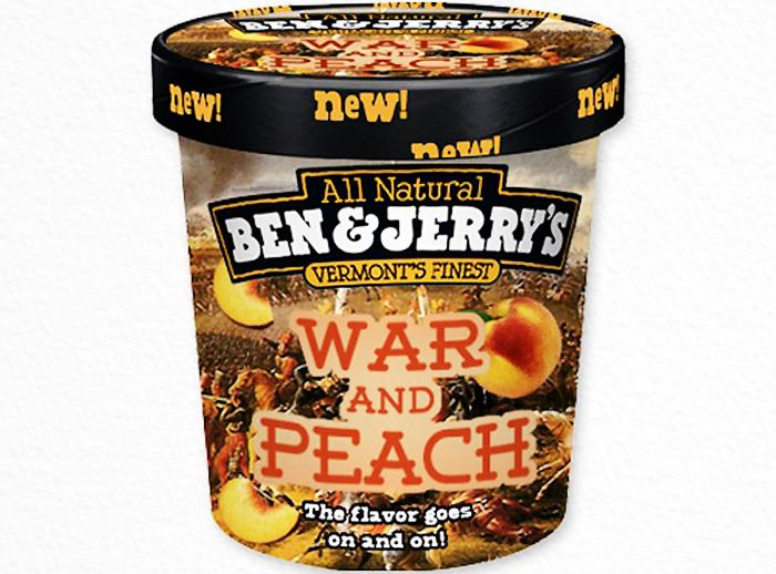 Ben & Jerry's new ice cream flavor War-and-Peach