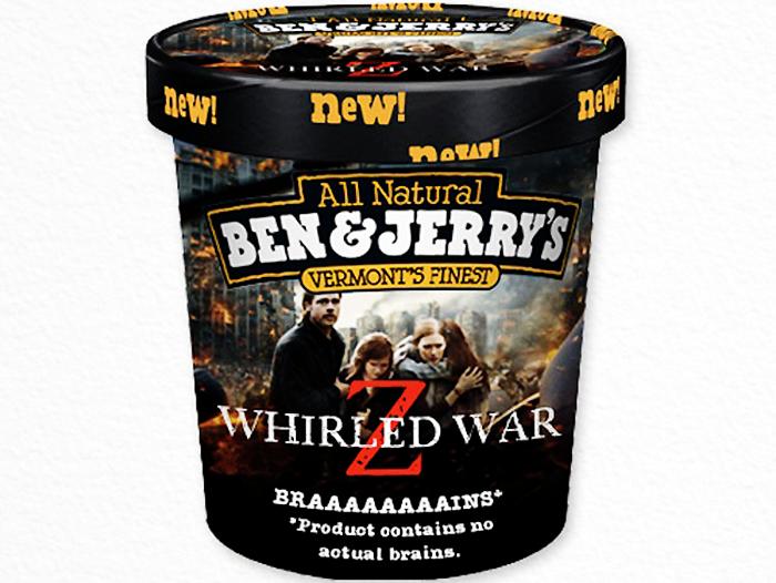 Ben & Jerry's ice cream flavor Whirled-War-Z